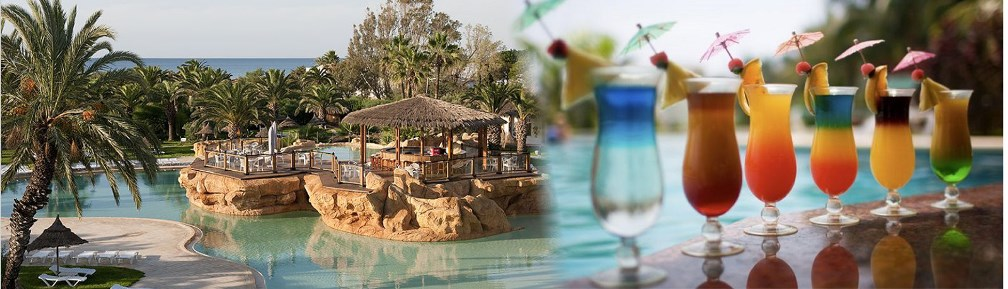 Exotic drinks from the Island Bar at the highly rated 4* Sentido Phenicia Hotel